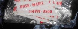 """14 Petites étiquettes A Coudre Sur Vetements - """" Rose-marie"""" - Dentelles Et Tissus"""