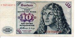 Allemagne  Billet 10 Zehn Deutsche Mark Banknote 1960 - [ 7] 1949-… : RFA - Rep. Fed. Tedesca