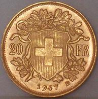 Marengo Oro 20 Franchi Svizzera Moneta Borsa Investimento Helvetia 1947 B - Svizzera
