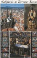 Clermont-Ferrand - La Cathédrale - 5 Photos Sur Carte - Vierge Noir -  Zwarte Madonna -   Ed Debaisieux - Clermont Ferrand