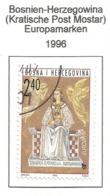 Bosnien-Herzegowina (Kroatische Post Mostar  1996  Mi.Nr. 28 , EUROPA CEPT Berühmte Frauen - Gestempelt / Fine Used /(o) - 1996