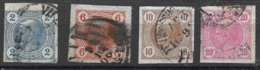 1530h3: Österreich 1899 Merkur- Zeitungsmarken Ohne Lackstreifen, ANK 97- 100 O (8.- €) - Gebraucht