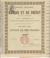 SOCIETE FRANCAISE DE BANQUE ET DE CREDIT - ACTION DE 500 FRS - - Mines
