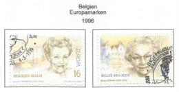Belgien  1996  Mi.Nr. 2688 / 2689 , EUROPA CEPT Berühmte Frauen - Gestempelt / Fine Used / (o) - 1996