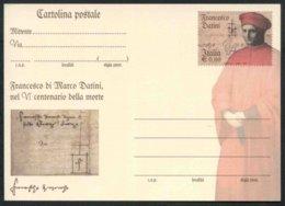 2010 Italia Cartolina Postale Francesco Datini Nuova (**) - 6. 1946-.. Repubblica
