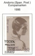 Andorra ( Spanische Post )  1996  Mi.Nr. 248 , EUROPA CEPT Berühmte Frauen - Gestempelt / Fine Used / (o) - 1996