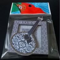 Portugal Magnet Cadre Motif Azulejos Traditionnels Carreaux Céramiques Guitare Portugaise - Magnets