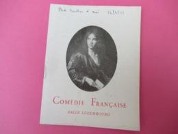 Programme/Comédie Française/Les Mal-Aimés/François MAURIAC/Salle Luxembourg/ Jean Louis Barrault/1947       PROG238 - Programas