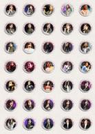 Héloïse Letissie Music Fan ART BADGE BUTTON PIN SET 1-3  (1inch/25mm Diameter) 105 X - Musique