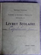 LIVRET SCOLAIRE  CLASSE DE SIXIÈME A TROISIÈME DIVISION A LYCÉE ST CHARLES 1926 Espitalier Marseille Marine - Diplômes & Bulletins Scolaires