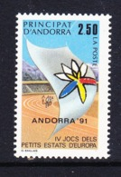 Andorra Fr. 1991 Sportgames European Small States 1v ** Mnh (44630D) - Europese Gedachte