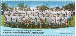 """Uruguay 2019 ** Sellos  IX Copa Mundial De Rugby En Japon. Equipo Uruguayo Los """"Teros"""" - Rugby"""