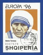 Albanien 1996  Mi.Nr. Block 107 , EUROPA CEPT - Berühmte Frauen - Nene Tereza - Gestempelt / Fine Used / (o) - 1996