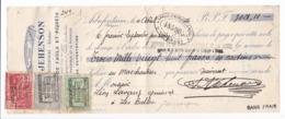 878/29 - Lettre De Change TP Montenez Et Houyoux DINANT 1926- FISCAUX Superbe Tricolore Mixte - Jehenson à ARBREFONTAINE - Fiscales