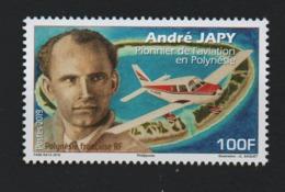 W28 Polynésie 2019 °° André Japy Pionnier Aviation Personnage Avion Atoll - Polynésie Française
