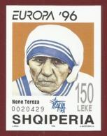 Albanien 1996  Mi.Nr. Block 107 , EUROPA CEPT - Berühmte Frauen - Nene Tereza - Postfrisch / MNH / (**) - 1996