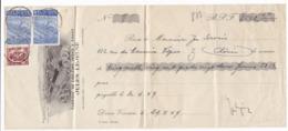 879/29 - Reçu TP Exportation Et Petit Sceau DISON 1949 - Entete Illustrée Fabrique De Couleurs Et Vernis Jules Lejeune - 1948 Export