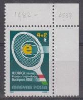 Hungary 1982 European Junior Cup Of Tennis 1v (corner) ** Mnh (44630F) - Europese Gedachte