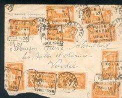 MAROC MOROCCO Lettre CASABLANCA OB DAGUIN FOIRE RABAT 1928 POUR SABLES D'OLONNE B/ TB - Lettres & Documents