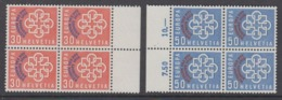 Switzerland 1959 PTT Conference 2v Bl Of 4 ** Mnh (44631) - Europese Gedachte