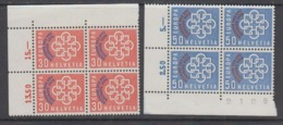 Switzerland 1959 PTT Conference 2v Bl Of 4 (corners) ** Mnh (44631A) - Europese Gedachte
