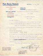 Parti Social Français à Saint-Dié , Vosges ,courrier De 1937 - 1900 – 1949