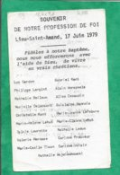 Lieu-Saint-Amand (59) Cardon Langlet Boileux Delacourt Leurette Méresse Tison Decaudin 2scans 17-06-1979 12,4 X 7,6 Cm - Images Religieuses