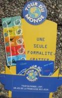 Française Des Jeux , Tour Du Monde ,pub De Comptoir Cartonnée + Notice ,26 X 40 Cms - Billets De Loterie