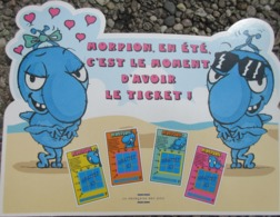 Française Des Jeux , Morpion ,,pub De Comptoir Cartonnée + Notice ,24 X 30 Cms - Billets De Loterie
