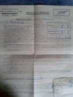 Avis D Admission Au épreuves Du Baccalauréat Série C Inscription Payé Par Mandat   1943 Espitalier Marseille - Diplômes & Bulletins Scolaires