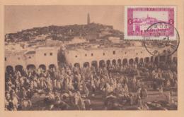 Carte  Maximum   ALGERIE   GHARDAÏA    1954 - Tarjetas – Máxima