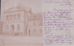 CARTE PHOTO Bellerive Sur Allier 1904 De La Part De M. Et Mme Badion Actuellement Instituteurs à Bellerive - Autres Communes