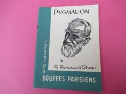 Programme/Théatre Des Bouffes Parisiens/ PYGMALION/ Bernard Shaw/Jean MARAIS/ Jeanne MOREAU/1956  PROG240 - Programas