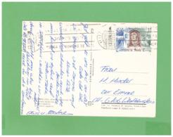 1996 ESPANA TORRE DEL MAR AIR MAIL POSTCARD WITH 1 STAMP TO SWISS - 1931-Hoy: 2ª República - ... Juan Carlos I