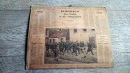 Calendrier Almanach Des Postes 1918 En Route Pour Les Tranchées Guerre Ww1 Histoire - Calendari