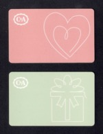 2 Carte Cadeau  C & A.   Gift Card.  Geschenkkarte - Cartes Cadeaux