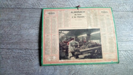 Calendrier Almanach Des Postes 1920 Les Femmes Dans Les Usines De Munitions  Guerre Ww1 Histoire Rare - Calendari