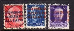 OCCUPAZIONE ANGLO-AMERICANA NAPOLI 1943 GOVERNO MILITARE ALLEATO SERIE COMPLETA SET USATA USED OBLITERE' - Anglo-american Occ.: Naples