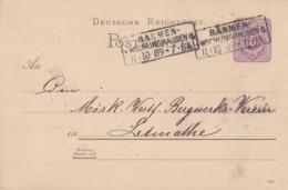 DR Ganzsache R3 Barmen-Wichlinghausen 11.10.89 - Briefe U. Dokumente