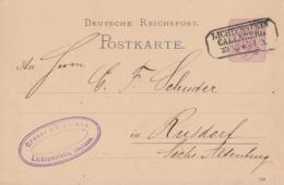 DR Ganzsache Nachv. Sachsenstempel Lichtenstein Callnberg 23.12.84 - Briefe U. Dokumente