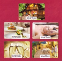5 Carte Cadeau  SMARTBOX.   Gift Card.  Geschenkkarte - Cartes Cadeaux