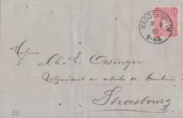 DR Brief EF Minr.33 K1 Wasselnheim 2.2.80 Gel. Nach K1 Strassburg I. ELS. - Briefe U. Dokumente