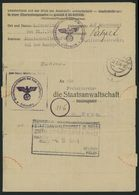 DT.REICH 1944, FREI DURCH ABLÖSUNG, LEITMERITZ - PRAG - Marcofilia - EMA ( Maquina De Huellas A Franquear)