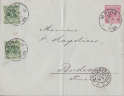 DR GS-Umschlag 10 Pfg. Zfr. Minr.2x 46 K1 Mainz 13.6.91 Gel. Nach Frankreich - Briefe U. Dokumente