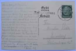 1937 DR Postkarte Freistempel Gebt Unsern Kriegsopfern Arbeit - Briefe U. Dokumente