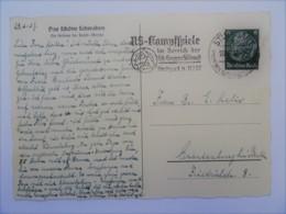 1937 DR Postkarte Stuttgart Freistempel NS-Kampfspiele SA-Gruppe Südwest - Briefe U. Dokumente
