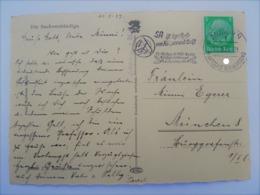 1937 DR Postkarte München Freistempel SA Ist Synthese Von Körper Und Geist. Reichswettkampf. Führerappell - Alemania