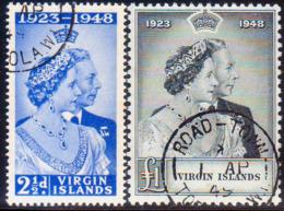 BRITISH VIRGIN ISLANDS 1949 SG 124-25 Compl.set Used CV £23 Royal Silver Wedding - British Virgin Islands