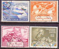 BRITISH VIRGIN ISLANDS 1949 SG 126-29 Compl.set Used UPU - British Virgin Islands