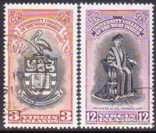 BRITISH VIRGIN ISLANDS 1951 SG 130-31 Compl.set Used BWI University College - British Virgin Islands